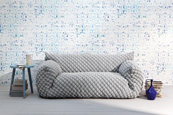 Gervasoni knitted sofa nuvola. Stylist Paola Navone - Interiør ♥