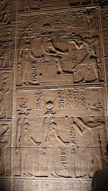 ASWAN, EGYPT - Temple of Isis on Philae I. - mural/ АСУАН, ЕГИПЕТ - храм богини Исиды на острове Филы by Miami Love 1, via Flickr