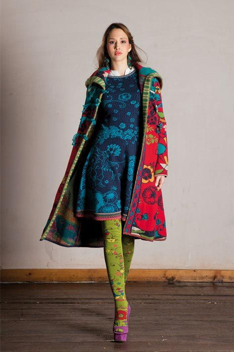 Ivko ~ Extroadinary knit designs coming from this designer ~ Ivko ~ from Serbia. Just exquisite. Obviously very bold colour tones but they zing along with the balance of pattern
