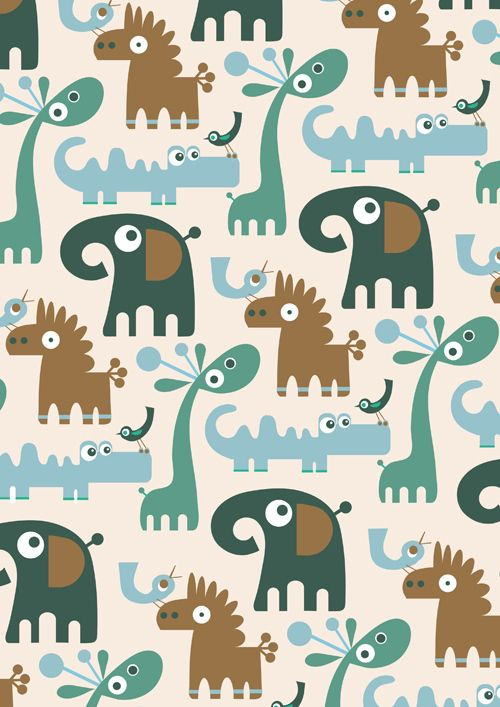 Repeat Pattern Characters by Stephanie Hinton