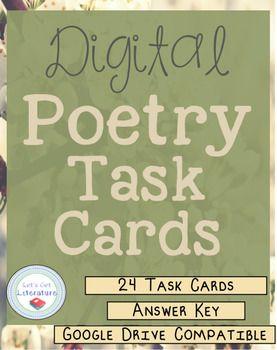 Digital Poetry Task Cards