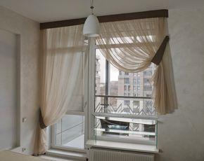 Оформление окна с балконной дверью: на кухне и в зале | balkonyforall.ru