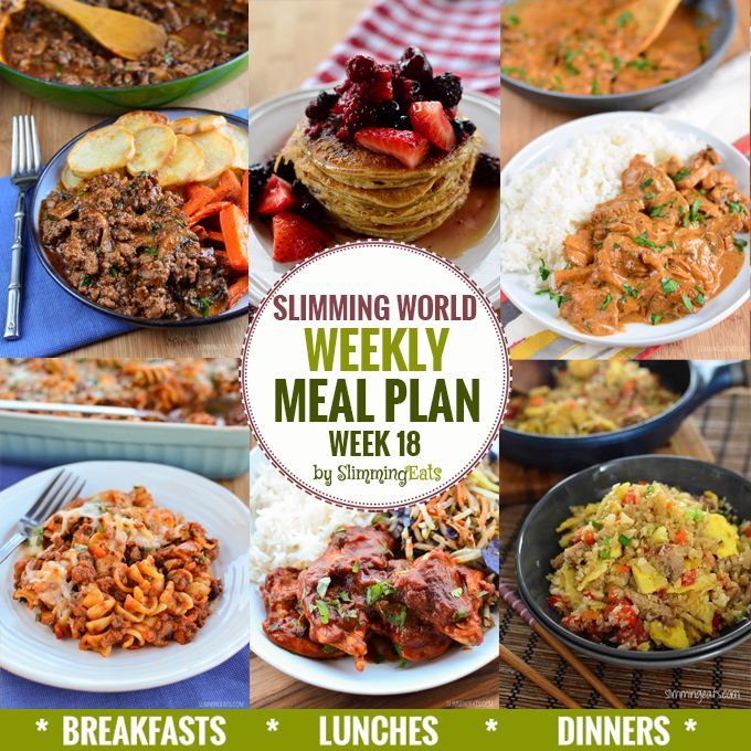 Slimming Eats Weekly Meal Plan – Week 18 - taking the work out of planning, so that you can just cook and enjoy the food.