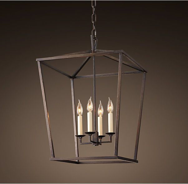 Nice English Openwork Pendant, Aged Iron   Industrial   Pendant Lighting   By Restoration  Hardware