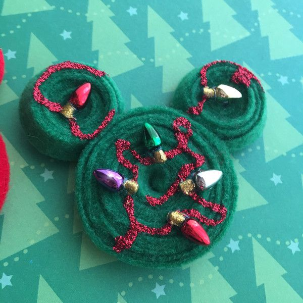 Disney Christmas Mickey Hair Clip - Christmas Lights ($9.50) ❤ liked on Polyvore featuring accessories, hair accessories, barrette hair clip, disney hair accessories, christmas hair clips, christmas hair accessories and disney
