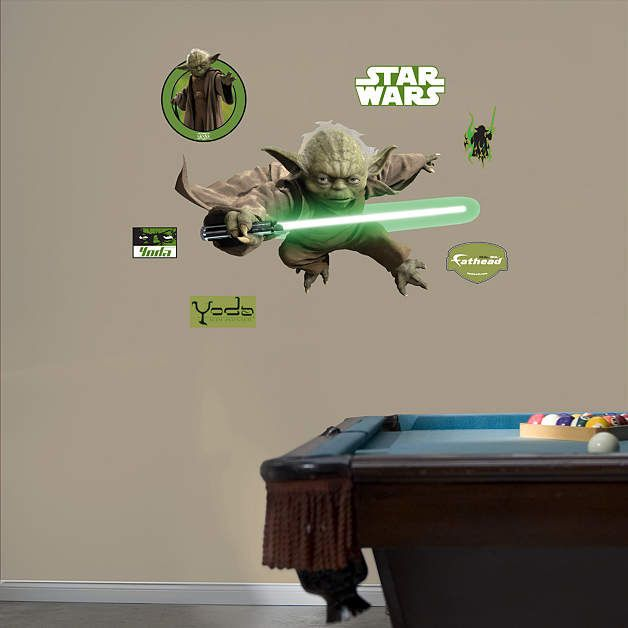 Fathead Star Wars Yoda Wall Graphic   Wall Sticker Outlet
