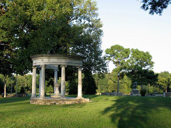 Overton Park Memphis Tn At The Beginning Of 20th Century