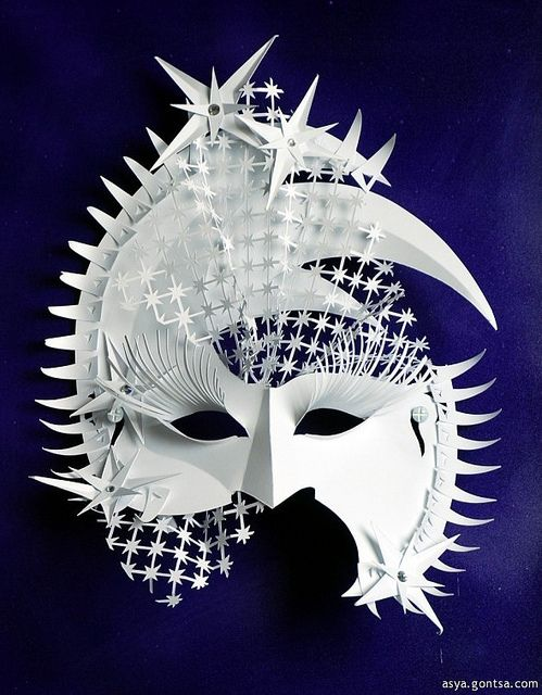 "*Paper Sculpture - ""Star Mask"" by Asya Gontsa"