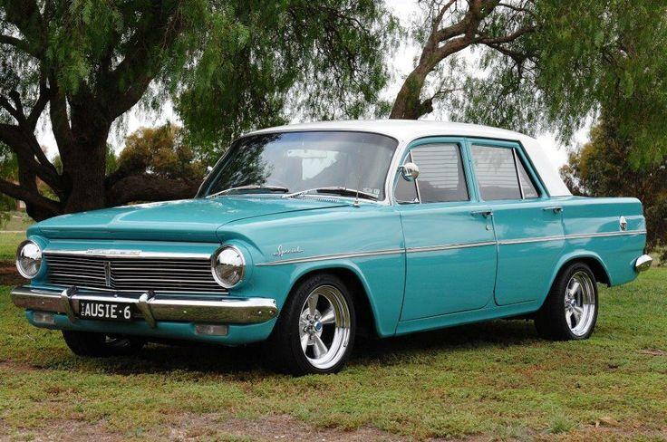 """My husbands pride and joy...1963 EH Holden Sedan plate """"AUSIE-6"""""""