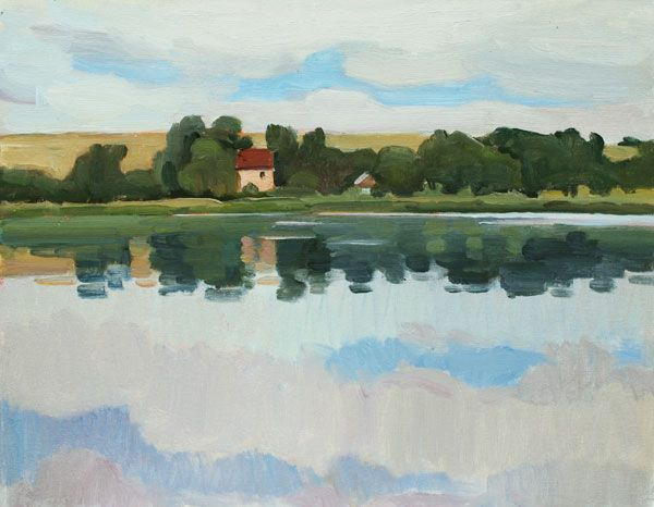 """Silent Day  oil on canvas on board, 30 x 40 cm (12""""x16"""")  #landscapepainting #oilpainting #pleinairpainting #fineart #artist #impressionist #representational"""