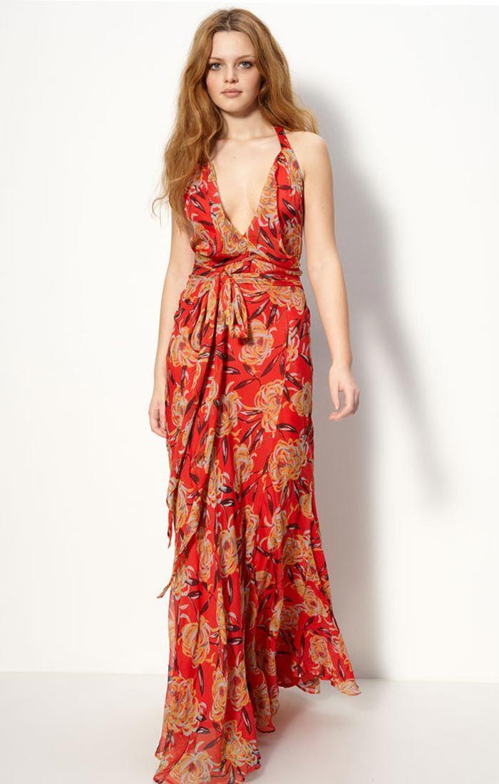 Floral-silk-maxi-chiffon-dresses-