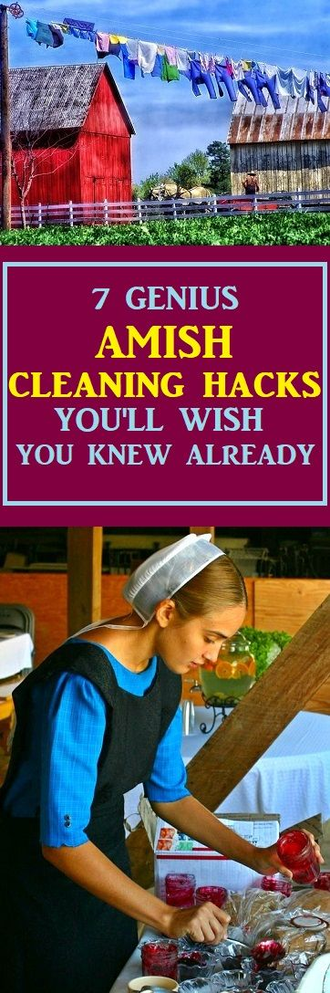Amish Cleaning Hacks That Will Make Your Life Easier #amish #cleaning #cleaningtips #home #lifestyle