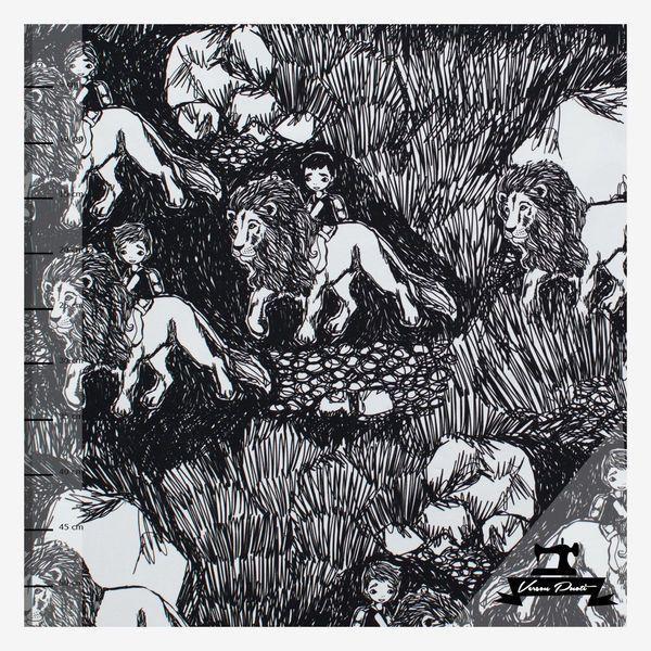 Leijonamieli (mustavalkoinen) trikoo | Verson Puoti