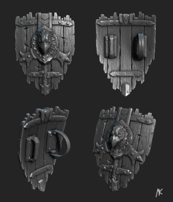 Medieval Shield, Martin Kepplinger on ArtStation at https://www.artstation.com/artwork/medieval-shield-fc6d07f4-f3dc-4ce4-8092-a6a00c67108d