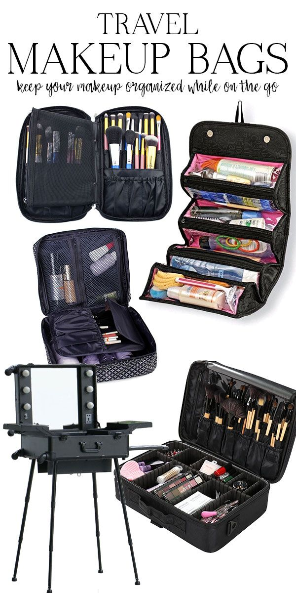 #ad great bags to pack all of your makeup for travel!