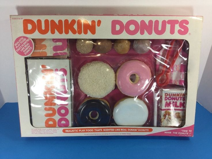 Dunkin Donuts Realistic Play Food Vintage 1987 very rare #DunkinDonuts