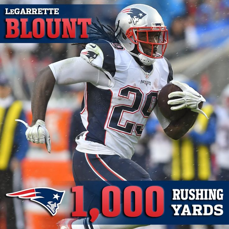 """New England Patriots on Twitter: """".@LG_Blount goes over 1,000 yards for the season!12/12/16"""