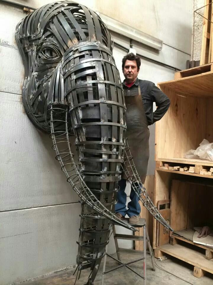Metal Elephant Art