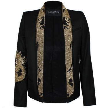 Balmain Embroidered Shawl Collar Blazer W/Dragon. It's almost $5k. Trying to figure out how to create a knockoff.