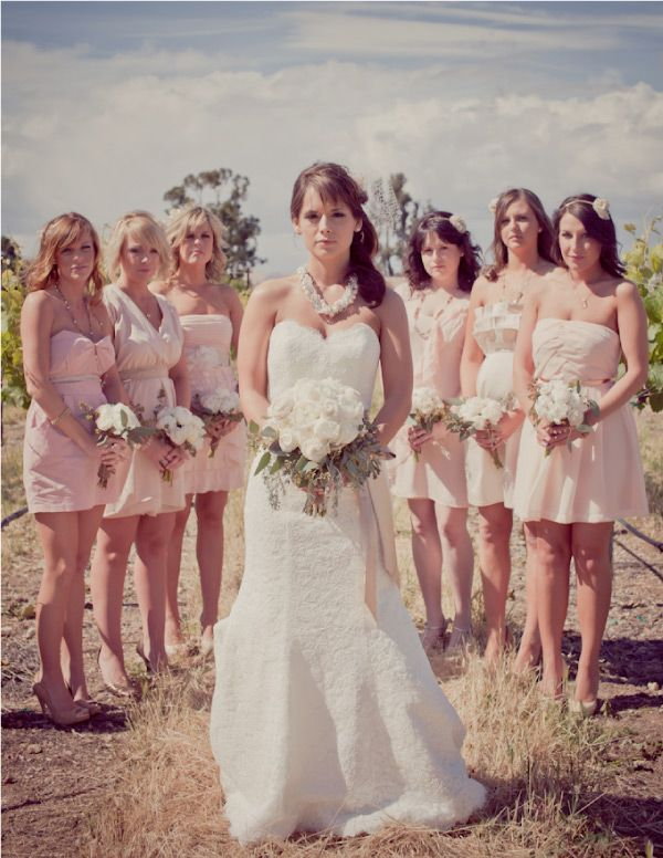 Bridesmaids dresses are really cute, this whole wedding is perfect, I want it all!
