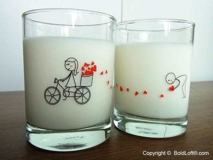 """With these enjoyable drinking glasses, you have a loving keepsake get you through the day! """"I've been saving all my love for you and the time has come for me to show you where all that love comes from!"""" Perfect Valentine's Day gifts for boyfriend or husband. BoldLoft """"All My Love for You"""" His and Hers Drinking Glasses. #boldloft #ValentinesDayGifts"""