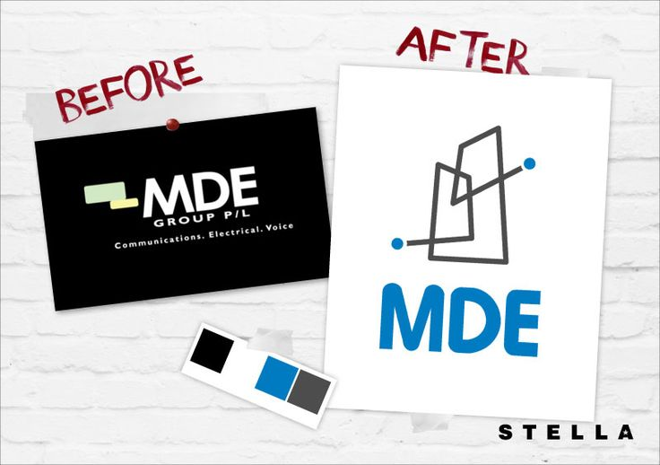Here is a BEFORE & AFTER for an Electrical, Data, ICT, & Communication #brand (MDE Group) that wanted a more modern & professional #identity via @Stella Menagia Design