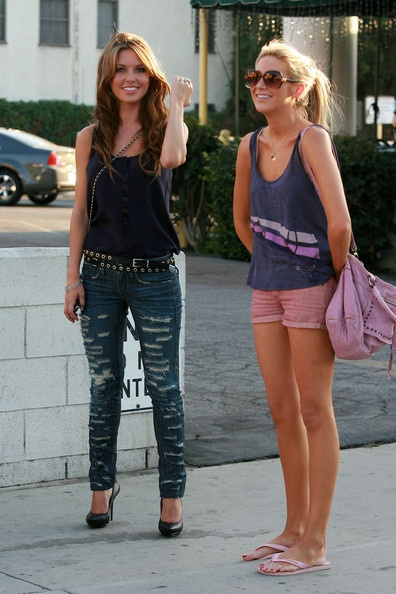 Audrina Patridge and Stephanie Pratt, love their outfits but mainly Audrina's :)