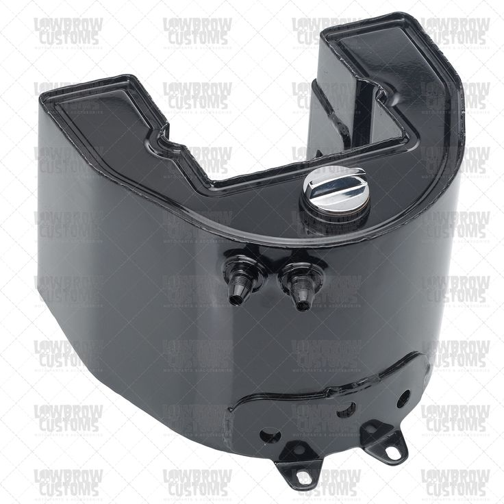 When building a big twin Harley-Davidson, you can't go wrong with the classic wrap around horseshoe oil tank. Looks great as a stock application or on your chopper. This new replica oil tank has seam welded edges, which show weld marks as did the original tanks. Includes a screw in dipstick. This early style tank is not equipped with battery rod tabs. OEM part number is 62504-38. Original fitment includes FL 1941 - 1957 and UL 1941 - 1948. Black.