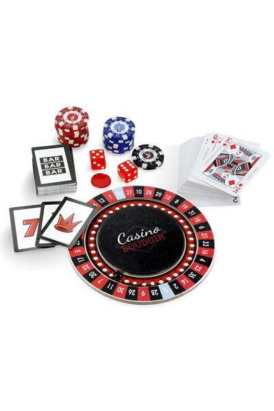 Vous voulez jouer ...à deux ...et gagner des plasirs ...Coffret de 4 jeux de casino en version érotique : roulette, blackjack, craps et machine à sous.