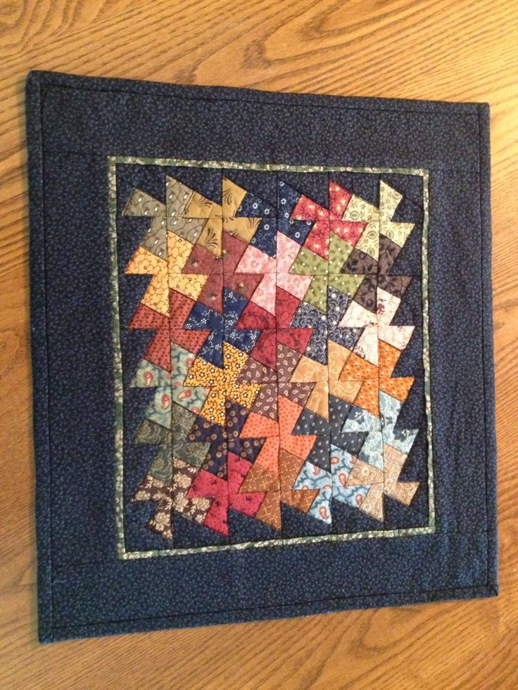 """To celebrate my upcoming """"Significant Birthday"""" I am having a blog giveaway!     It 's a Twister Quiltlet I made and it measures 14""""x15"""". To..."""