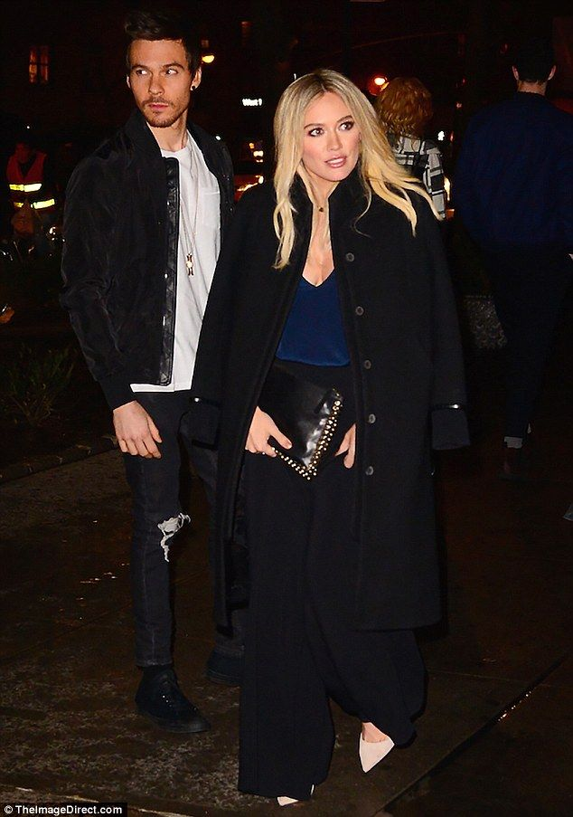 Date night: Hilary Duff looked chic while spotted leaving dinner with boyfriend Matthew Ko...