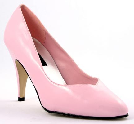 Pleaser Shoes Dream-420W Baby Pink Court Shoes A classic design in a modern, feminine colour! With a front V-cut, pointed toe and a comfortable, yet extremely sexy 4 inch (10 cm) stiletto heels, these shoes will most likely attract all eyes on the http://www.MightGet.com/january-2017-12/pleaser-shoes-dream-420w-baby-pink-court-shoes.asp