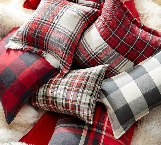 Plaid pillows by Pottery Barn; $29–$49 | archdigest.com