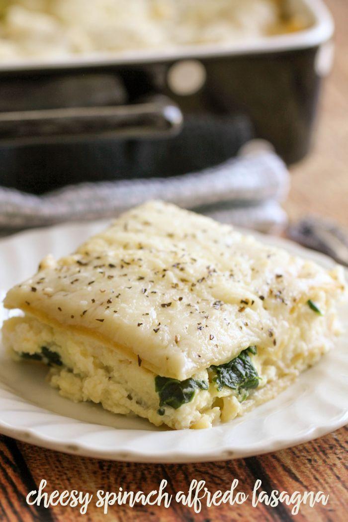 Cheesy Spinach Alfredo Lasagna