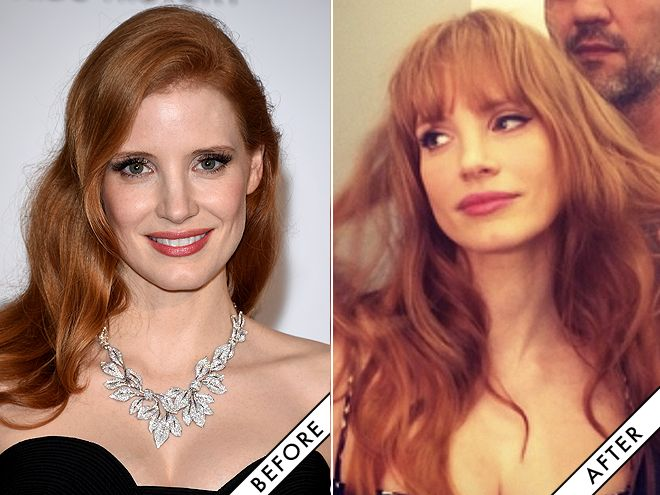 Makeover Alert! Jessica Chastain Got Bangs | Daily Makeover