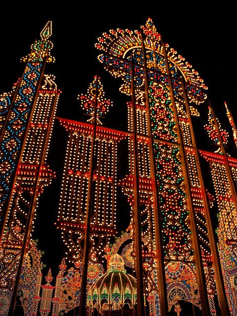 Beautiful light display, Kobe Luminarie, Kobe Japan. To remember the Great Hanshin Earthquake, offering people courage and hope.