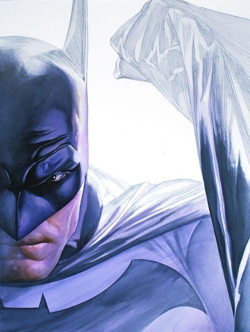 Batman, pencil to paint - Alex Ross