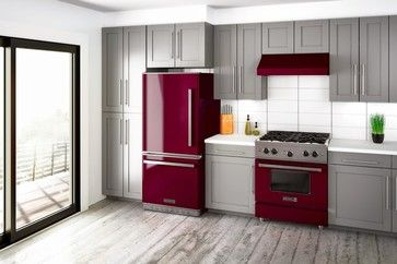 Big Chill's Pro-Line Lifestyle Kitchen in Cabernet if you love Pantone's color of the year Marsala #bigchill