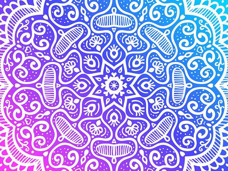 Snowflake Pattern in pink, purple and blue by Slanapotam on Dribbble