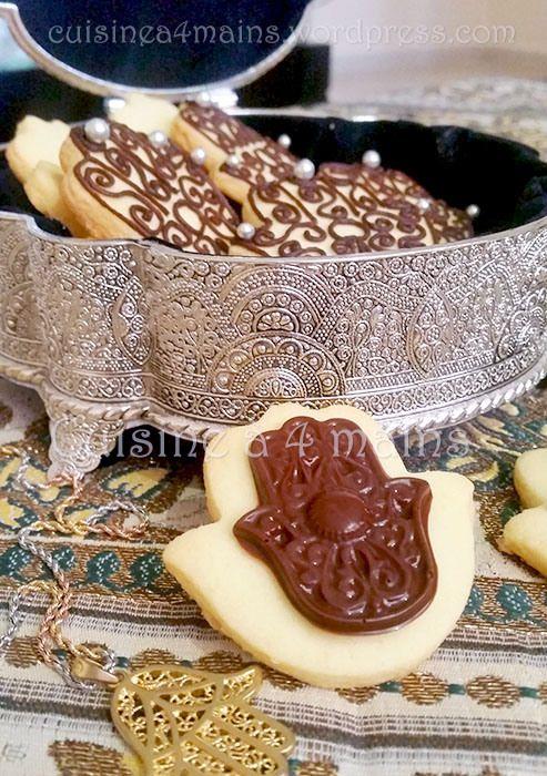 sablés au chocolat khomsa - cuisine à 4 mains