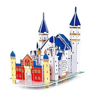 DIY 3D Puzzle - Neuschwanstein Castle - Adults And Children. Only at www.pandadeals.co.uk