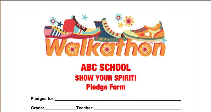 get our free pledge sheet for walkathons