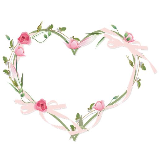 heart floral frame valentine - photo #21