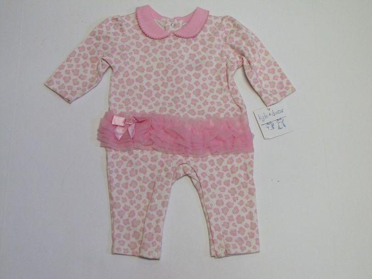 NWT Kyle & Deena Pink Leopard Print Tutu Bodysuit Coverall Romper Girls 3-6 M #KyleDeena #DressyEverydayHoliday