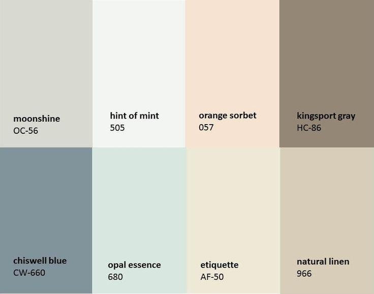 Benjamin Moore Paint Colors  House Color Scheme