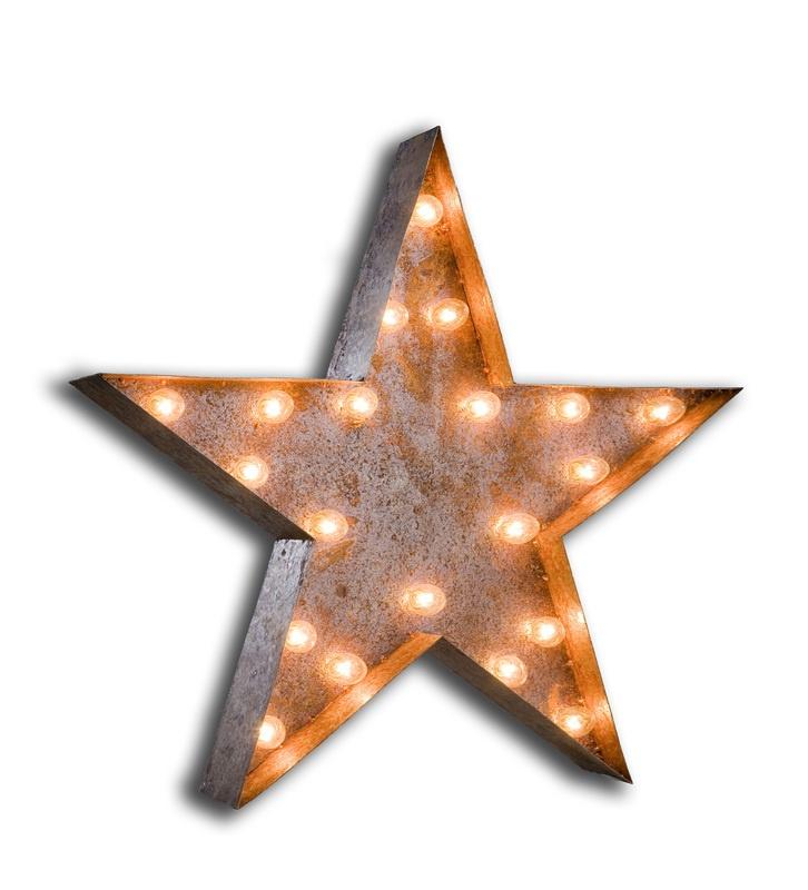 Vintage Marquee Lights - Star