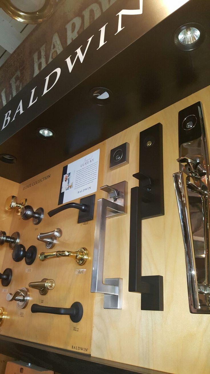 Baldwin front door locks,  we like the black set, but Home Depot has the pewter set $179.