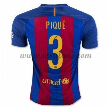 Barcelona Fotbalové Dresy 2016-17 Pique 3 Domáci Dres