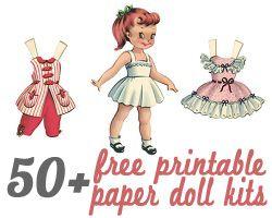 50+ Printable Paper Doll Kits