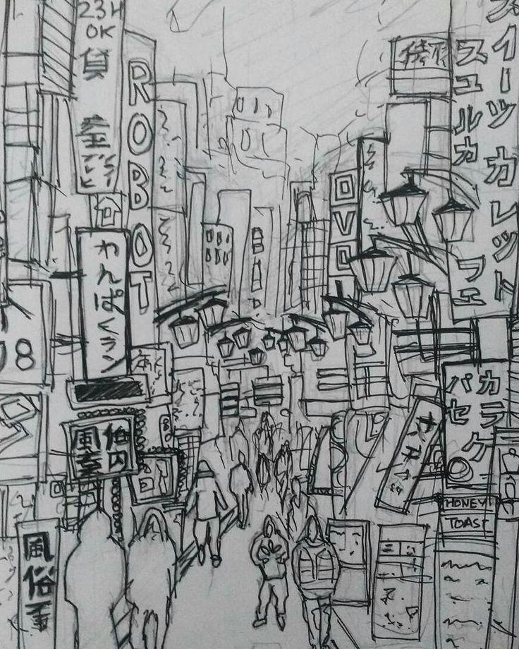 Shinjuko nights technical pens A5 http://ift.tt/2BMeO0t